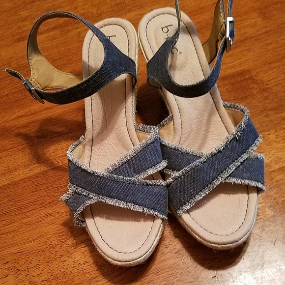 boc Shoes - boc BY BORN DENIM  STRAPPY WEDGES
